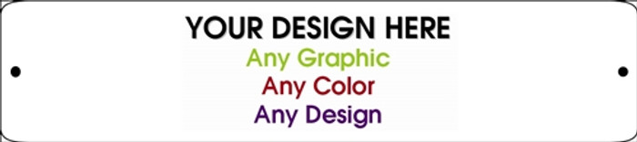 """Personalized Design Your Own Custom 18"""" x 4"""" Novelty Small Street Sign"""