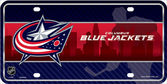 Columbus Blue Jackets Metal Novelty License Plate