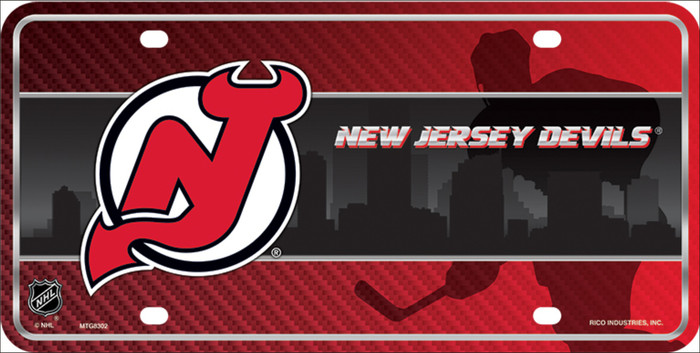 New Jersey Devils Metal Novelty License Plate