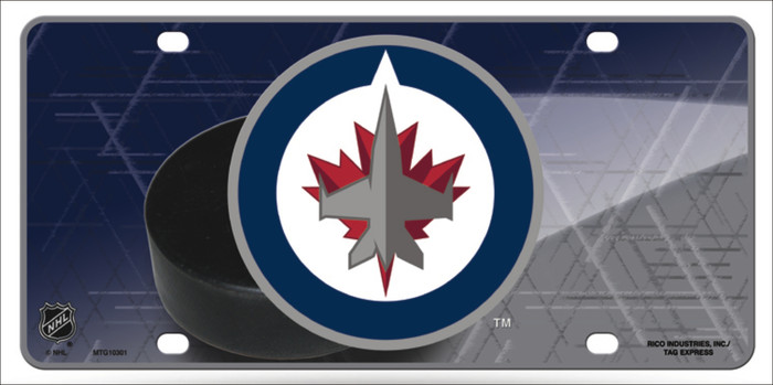 Winnipeg Jets Metal Novelty License Plate LP-5562