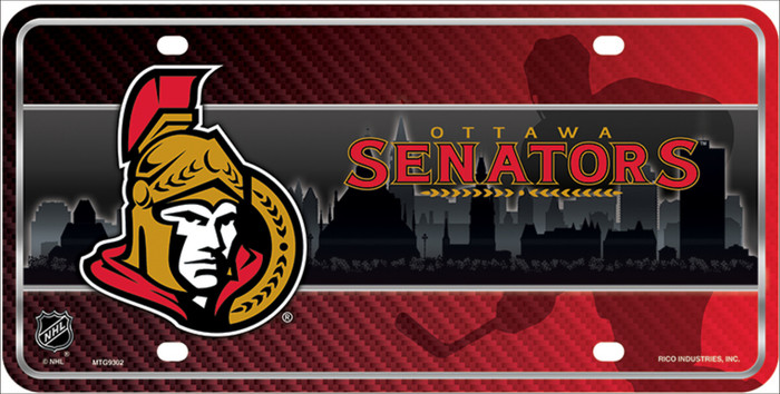 Ottawa Senators Metal Novelty License Plate LP-5570