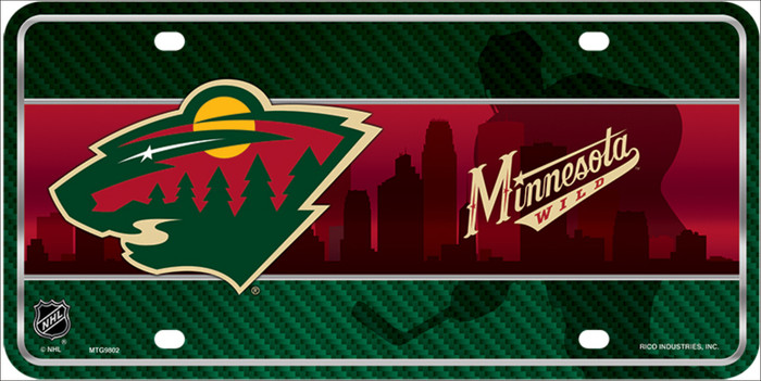 Minnesota Wild Metal Novelty License Plate