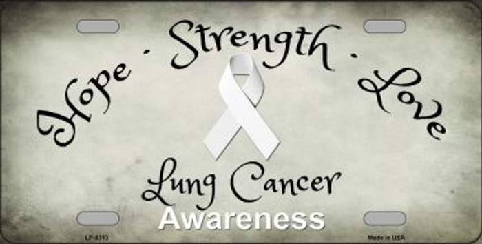Lung Cancer Novelty Metal License Plate