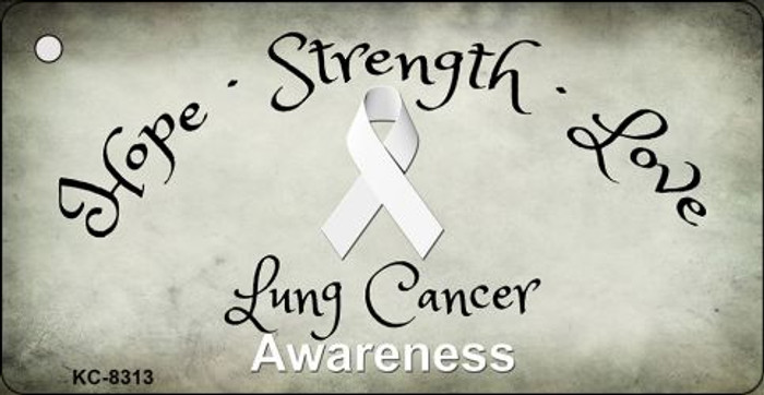 Lung Cancer Novelty Metal Key Chain