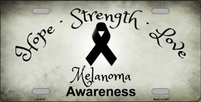Melanoma Cancer Novelty Metal License Plate