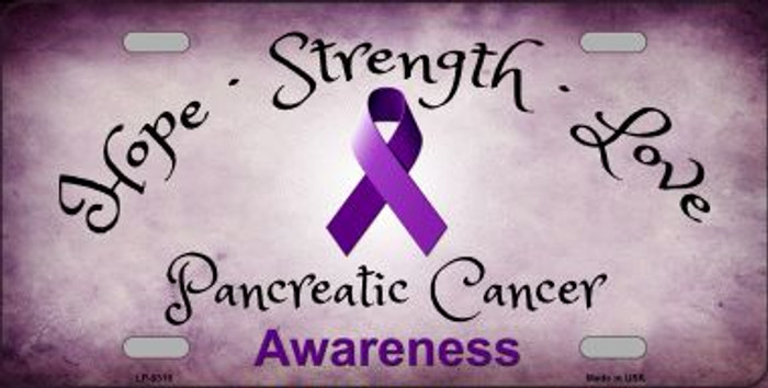 Pancreatic Cancer Novelty Metal License Plate