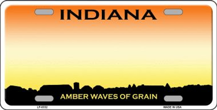 Indiana Background Novelty Metal License Plate