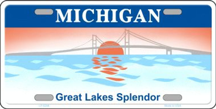 Michigan Background Novelty Metal License Plate