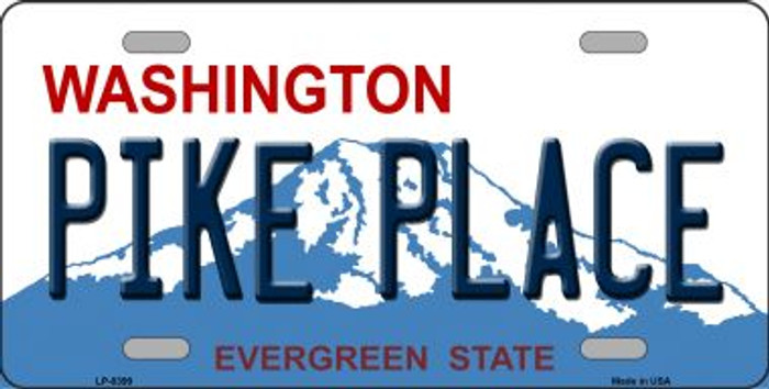 Place Pike Washington Novelty Metal License Plate