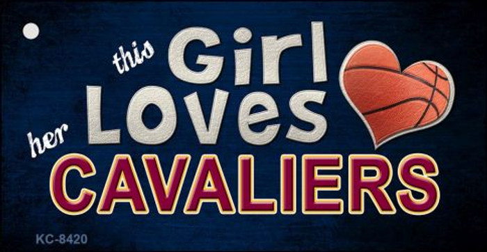 This Girl Loves Her Cavaliers Novelty Metal Key Chain