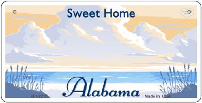 Alabama State Background Metal Bicycle Plate