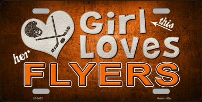 This Girl Loves Her Flyers Novelty Metal License Plate