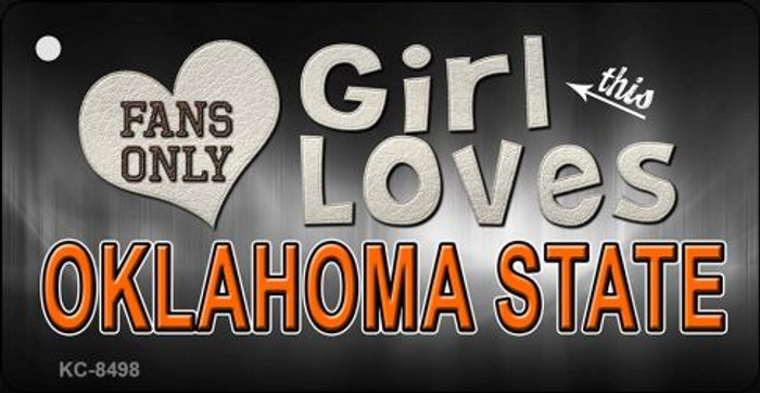 This Girl Loves Oklahoma State Novelty Metal Key Chain