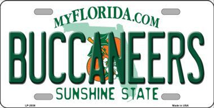 Buccaneers Florida State Background Novelty Metal License Plate