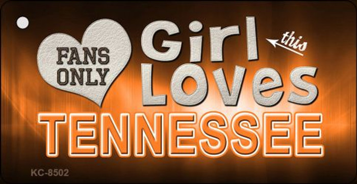 This Girl Loves Tennessee Novelty Metal Key Chain