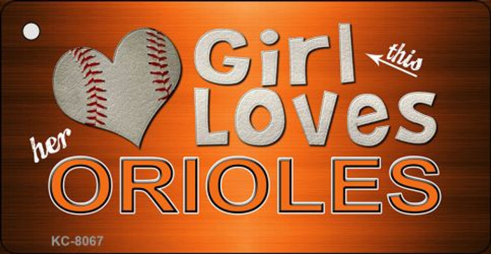 This Girl Loves Her Orioles Novelty Metal Key Chain
