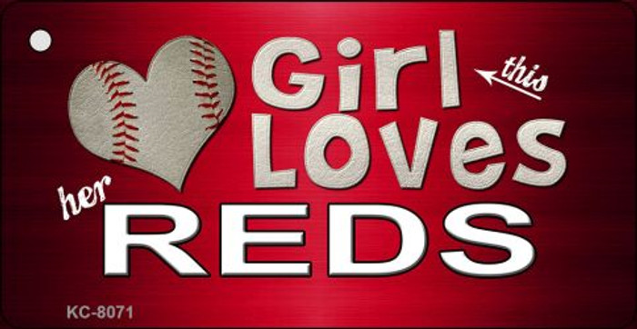This Girl Loves Her Reds Novelty Metal Key Chain