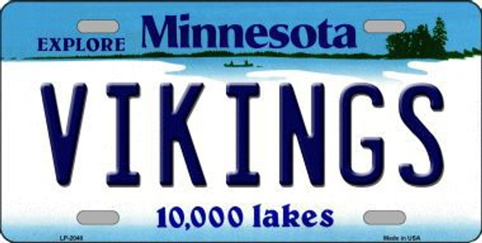Vikings Minnesota State Background Novelty Metal License Plate