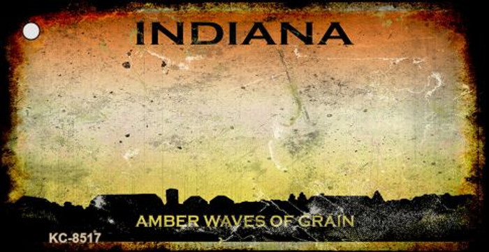 Indiana Rusty State Background Novelty Metal Key Chain
