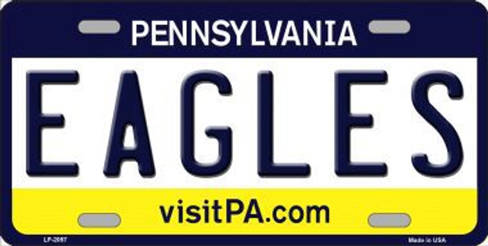 Eagles Pennsylvania State Background NoveltyMetal License Plate