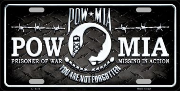 POW MIA Novelty Metal License Plate