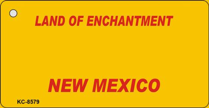 New Mexico Yellow Background Novelty Metal Key Chain