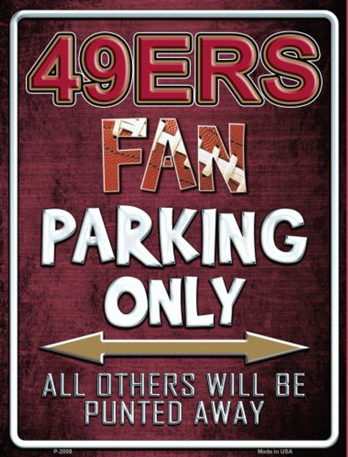 49ers Metal Novelty Parking Sign