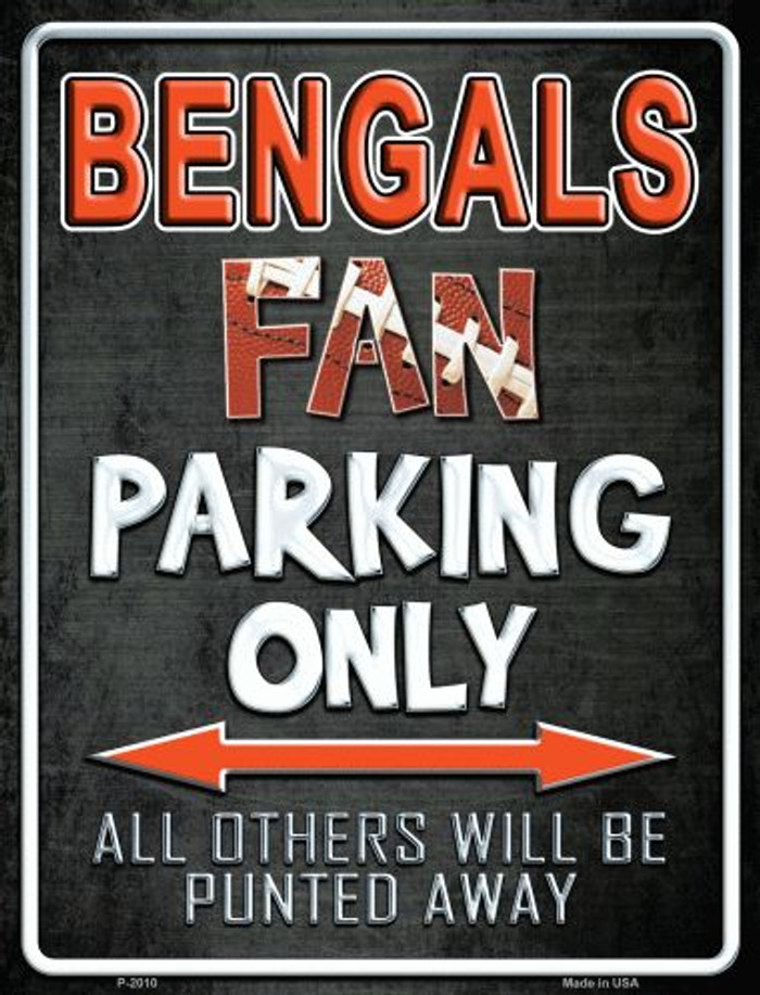 Bengals Metal Novelty Parking Sign
