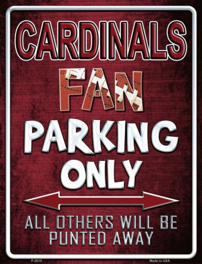 Cardinals Metal Novelty Parking Sign