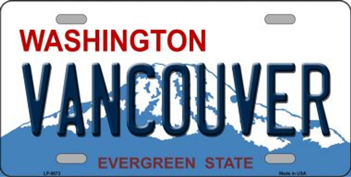 Vancouver Washington Background Novelty Metal License Plate