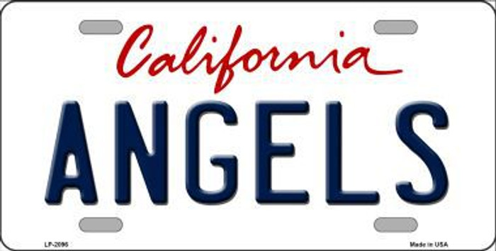 Angels California State Background Novelty Metal License Plate