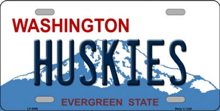 Huskies Washington Background Novelty Metal License Plate