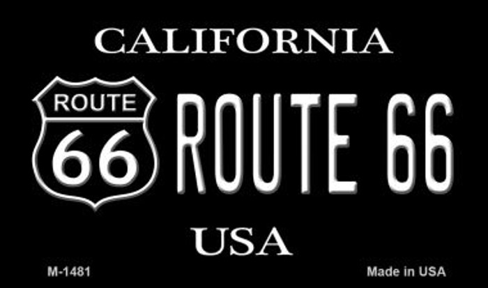 Route 66 Shield California Novelty Metal Magnet