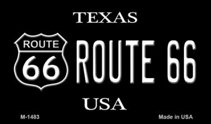 Route 66 Shield Texas Novelty Metal Magnet