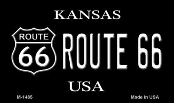 Route 66 Shield Kansas Novelty Metal Magnet