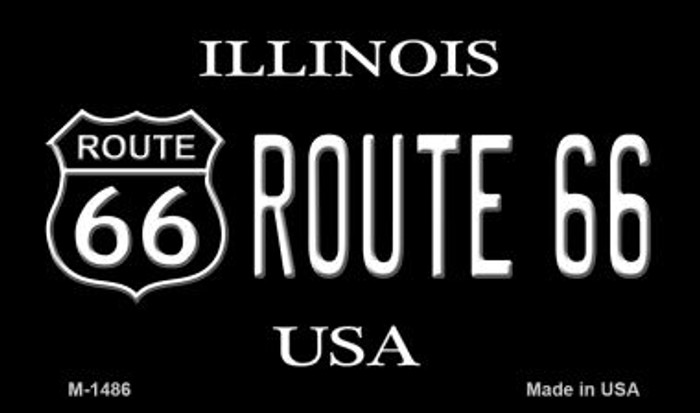 Route 66 Shield Illinois Novelty Metal Magnet