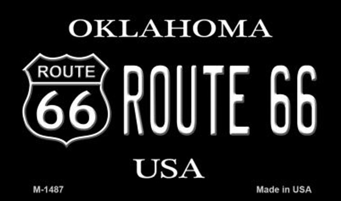 Route 66 Shield Oklahoma Novelty Metal Magnet
