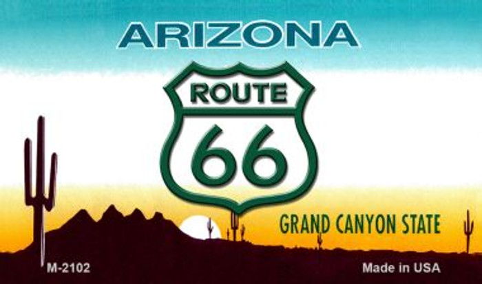 Route 66 On Arizona Background Novelty Metal Magnet