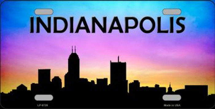 Indianapolis Silhouette Novelty Metal License Plate