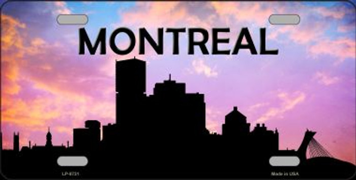 Montreal Silhouette Novelty Metal License Plate