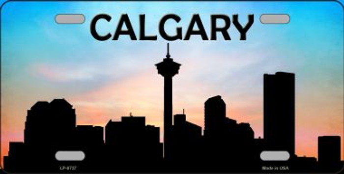 Calgary Silhouette Novelty Metal License Plate