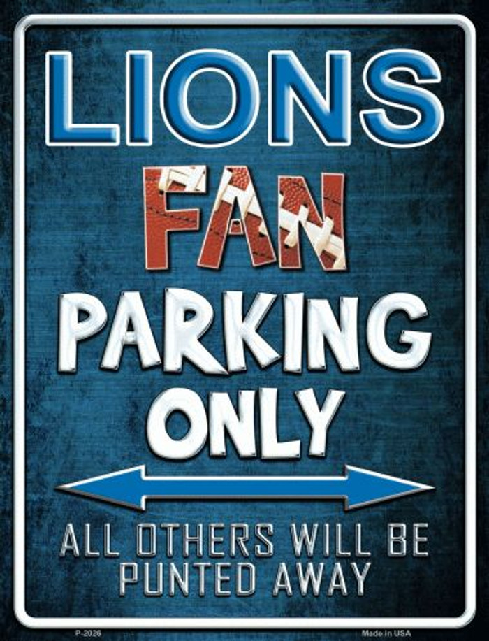 Lions Metal Novelty Parking Sign