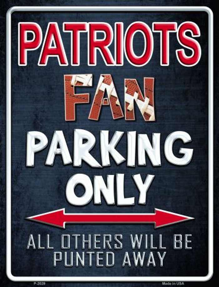 Patriots Metal Novelty Parking Sign