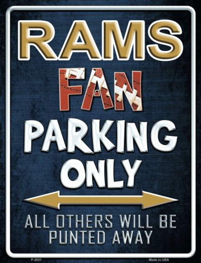 Rams Metal Novelty Parking Sign