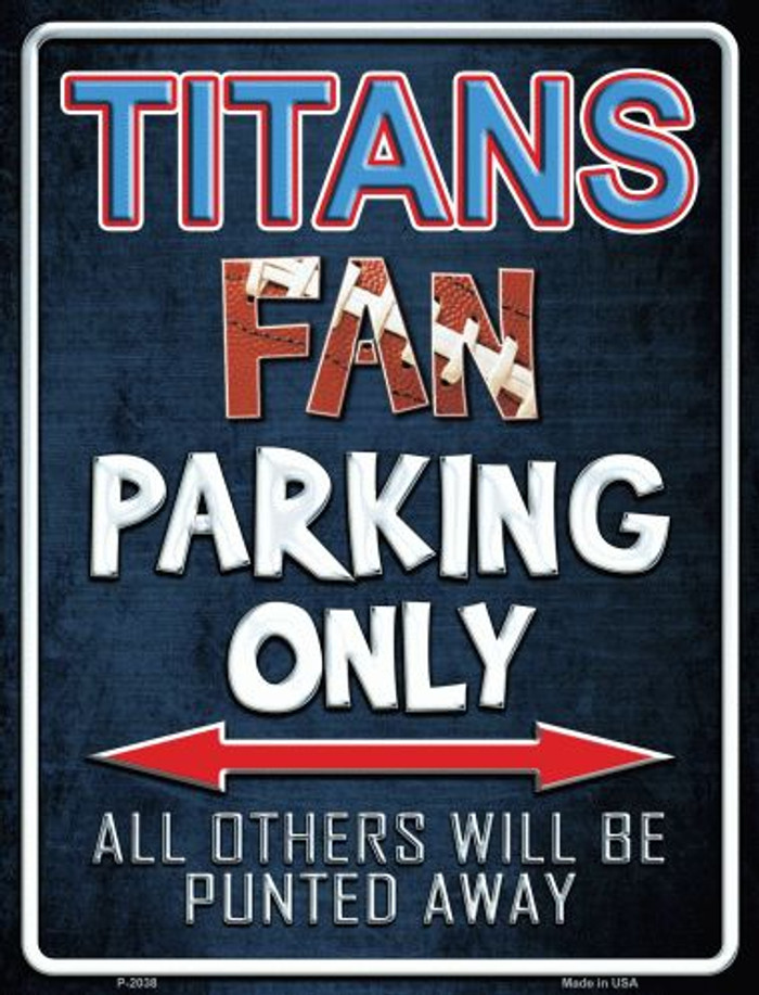 Titans Metal Novelty Parking Sign