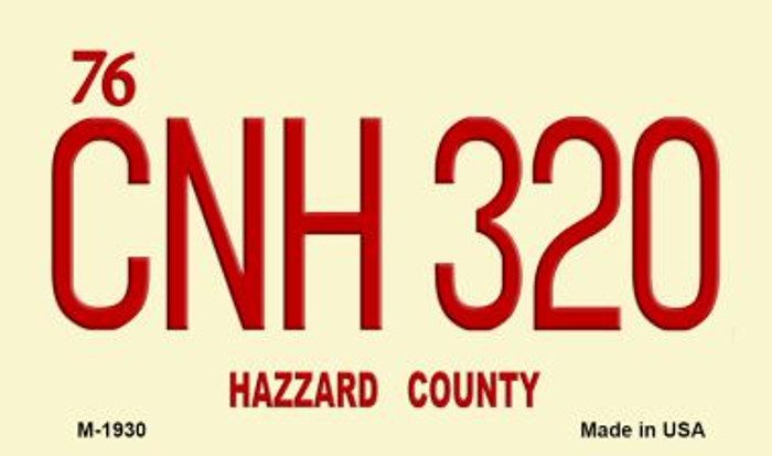 CNH320 Hazzard County Novelty Metal Magnet