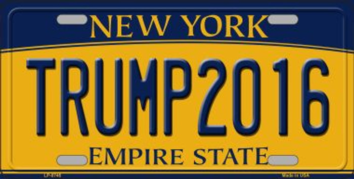 Trump 2016 Novelty Metal License Plate