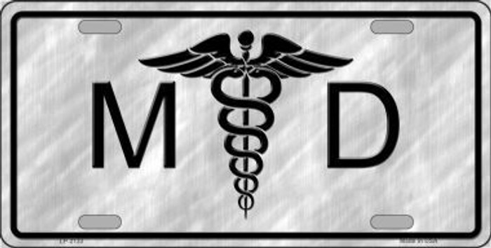 MD Metal Novelty License Plate