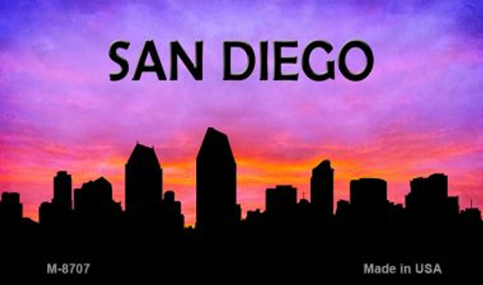 San Diego Silhouette Novelty Metal Magnet