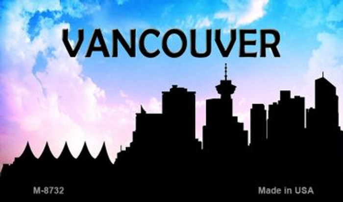 Vancouver Silhouette Novelty Metal Magnet